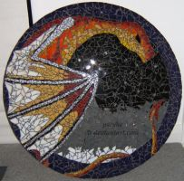 Finished Dragon Mosaic by pscyhe