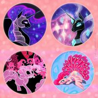 Galacon Buttons by GingerFoxy