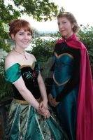 Elsa and Anna Coronation Cosplays by DanikaMilles