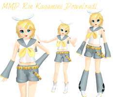 MMD - Rin Kagamine + Download by Aira-Melody