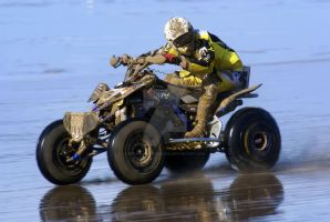 Flat Out @ Weston Beach Race by Petrol-Head-Images