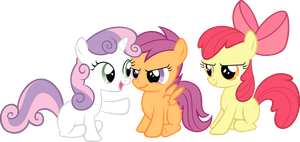 Cutie Mark Crusaders meeting by Chisella1412