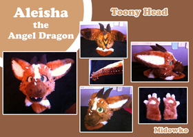 Fursuit Commission Aleisha the Angel dragon by Midowko