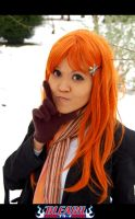 Bleach: Orihime in the Snow by worldsworstmanga