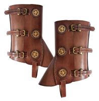 Steampunk leather gaiters 1 by AmbassadorMann