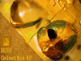 Clockwork Mask WIP by Magpieb0nes