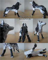 Mightyena Sculpture by SnowPain