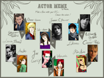 Actor Meme: The Dysfunctionals by RubyBolger