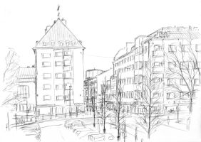 Town sketch by PenUser