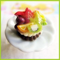 Tropical Fruit Dessert Ring by cherryboop