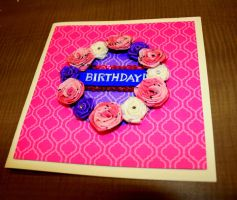 Card 23- Birthday roses by Of-Heliotropes