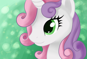 Sweetie Belle portrait by Runes-Multi