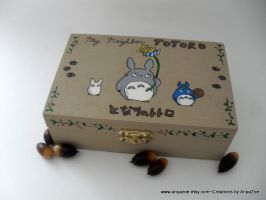 Totoro Jewelry Box by AnyaZoe