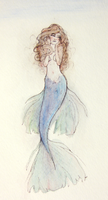 Watercolor Mermaid by Atlantistel