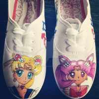 Super Sailor Moon and Mini Moon by zombie-pops