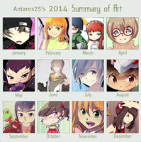 2014 Art Summary Thing by Antares25