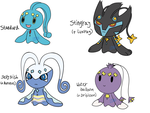 Manaphy Variations by AhogeDoge