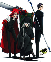 render Grell,Undertaker y william by YaelRukia