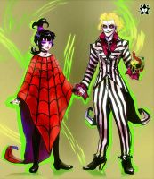 Beetlejuice and Lydia by E-X-P-I-E