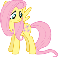 Fluttershy Looking At Her Cutie-mark by ThePoneSenpai
