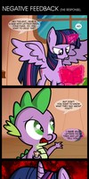 Comic 39: Negative Feedback. by ZSparkonequus