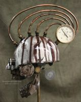 Steampunk skull medical antiques by Sculptured