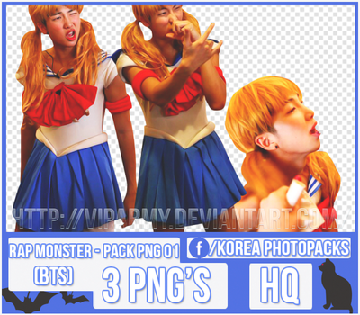 Pack png render: Rap Monster | BTS #001 by VipArmy