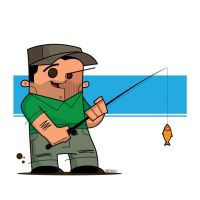 Fisherman Vector! by funky23