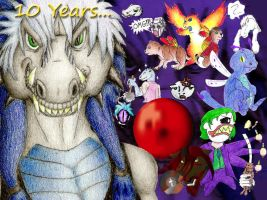 A Decade of Art Collage by PewterKat