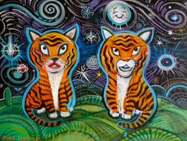 His and Hers Tigers by hyronomous
