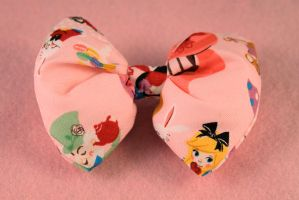 Alice In Wonderland Puffy Bow by PeppermintPuff