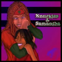 Knuckles and Samantha by QTStartheHedgehog