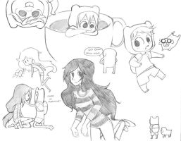 adventure time doodles by Cappuchi