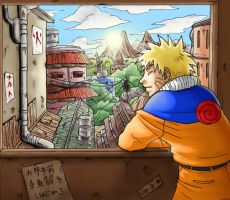 Naruto's home by clingwrap