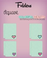 Folders Aquave Colorful hearts by BellakysBlueTeam