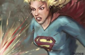SUPERGIRL LASER EYES! by PonceArt