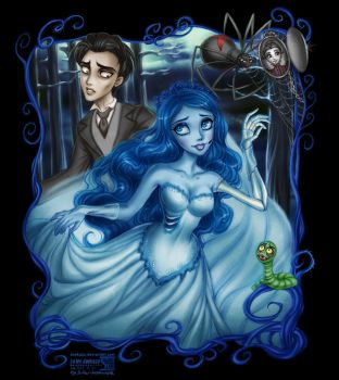 Corpse Bride: Emily and Victor by daekazu