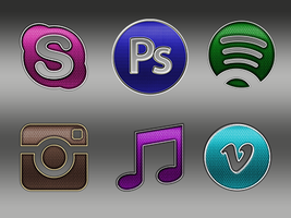 Detailed Social Media Icons Pt 2 by sammi879