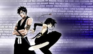 Soi Fon and Hisagi by CaptainLaser