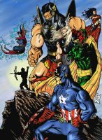 classic avengers by barfast