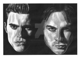 The Vampire Diaries commission by girlinterruptedbyart