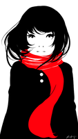 Red Scarf by Jqnn