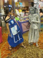 Animefest '12 - Tardis and Weeping Angel by TexConChaser