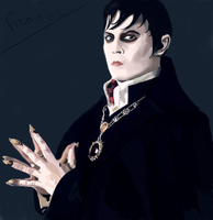 Barnabas Collins (Johnny Depp) portret by Vampie001