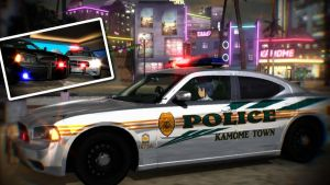 Dodge Charger R/T Police Car for MMD by cargraP