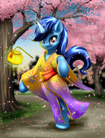 Commission: Flashshot in Yukata by MykeGreywolf