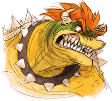 Angry Bowser Reaction Image by VGDCMario