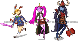 Dressphere Contest/Adventure Time Gals by Renner-P