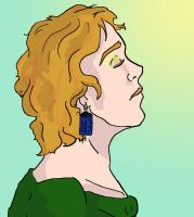Girl with the Tardis Earrings by AbruptlyNatural