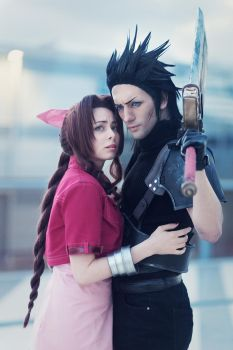 Zack and Aerith - Cosplay Art by Leon and Yuriko by LeonChiroCosplayArt